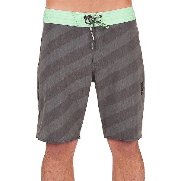 Volcom Stripey Slinger Mens Board Shorts, Stealth, 600