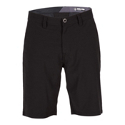 Volcom Surf N Turf Frickin Static Mens Hybrid Shorts, Blackout, medium