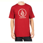 Volcom Lino Stone Mens T-Shirt, Deep Red, medium