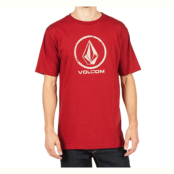 Volcom Lino Stone Mens T-Shirt, Deep Red, 600