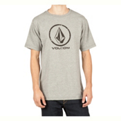 Volcom Lino Stone Mens T-Shirt, Heather Grey, medium