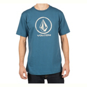 Volcom Lino Stone Mens T-Shirt, Smokey Blue, medium
