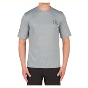 Volcom Distortion Mens Rash Guard, Pewter, medium