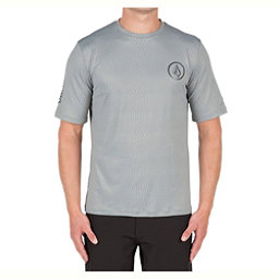 Volcom Distortion Mens Rash Guard, Pewter, 256
