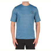 Volcom Distortion Mens Rash Guard, Smokey Blue, medium