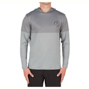 Volcom Distortion Block Mens Rash Guard, Pewter, medium