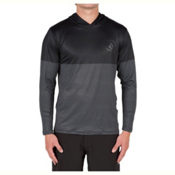 Volcom Distortion Block Mens Rash Guard, Stealth, medium