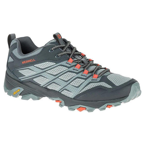 Merrell Moab FST Mens Shoes, Grey-Orange, 600