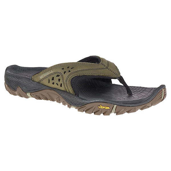 Merrell All Out Blaze Mens Flip Flops, Dusty Olive, 600