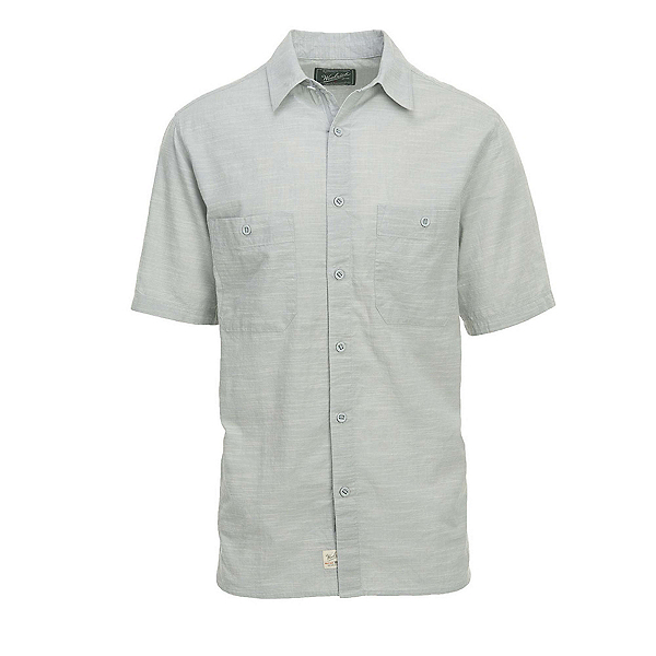 Woolrich Lost Lakes Chambray Mens Shirt, Gray, 600