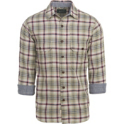 Woolrich Weekend Eco Rich Double Weave Mens Shirt, Grassland, medium