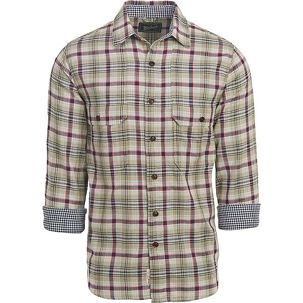 Woolrich Weekend Eco Rich Double Weave Mens Shirt, Grassland, 600