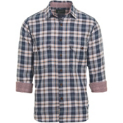 Woolrich Weekend Eco Rich Double Weave Mens Shirt, Deep Indigo, medium