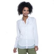 Toad&Co DeBug Hike-Thru Long Sleeve Womens Shirt, White, medium