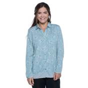 Toad&Co DeBug Hike-Thru Long Sleeve Womens Shirt, Chrome Floral Print, medium