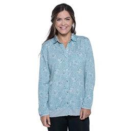 Toad&Co DeBug Hike-Thru Long Sleeve Womens Shirt, Chrome Floral Print, 256