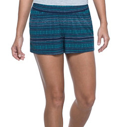 Toad&Co Sunkissed Pull On Womens Hybrid Shorts, Deep Navy Bird Print, 256