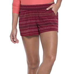 Toad&Co Sunkissed Pull On Womens Hybrid Shorts, Spiced Coral Bird Print, 256