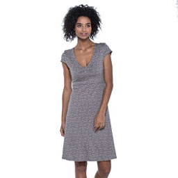 Toad&Co Rosemarie Dress, Cocoa Quito Line Print, 256