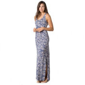 Toad&Co Montauket Long Dress, Indigo Brush Print, medium