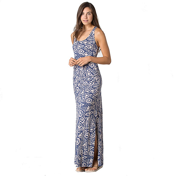 Toad&Co Montauket Long Dress, Indigo Brush Print, 600