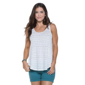 Toad&Co Papyrus Flowy Womens Tank Top, Egret Line Print, medium