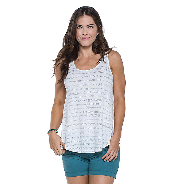 Toad&Co Papyrus Flowy Womens Tank Top, Egret Line Print, 600