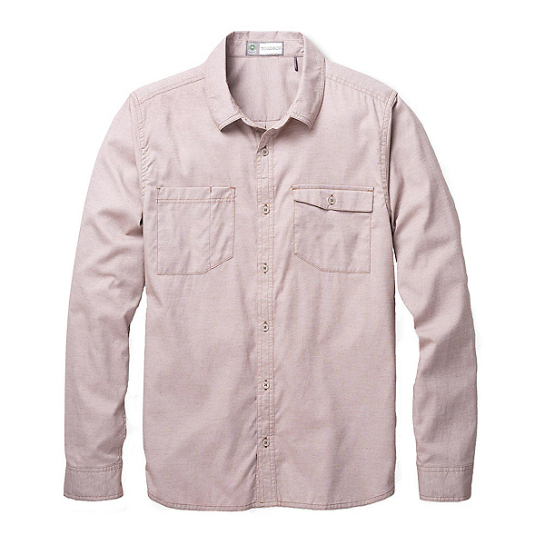 Toad&Co DeBug Riverbound Long Sleeve Mens Shirt, Seal Brown, 600