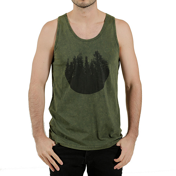 Tentree River Mens Tank Top, Moss, 600