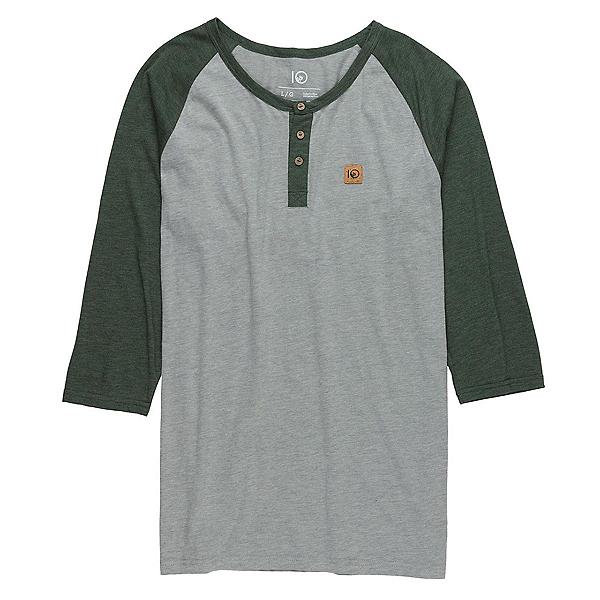 Tentree Standard Mens Shirt, Heather Grey-Moss, 600