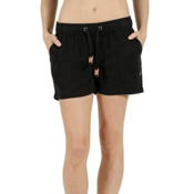 Tentree Instow Womens Shorts, Black, medium