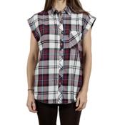 Tentree Mallow Womens Shirt, Maroon, medium