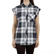 Tentree Mallow Womens Shirt, Moss, medium