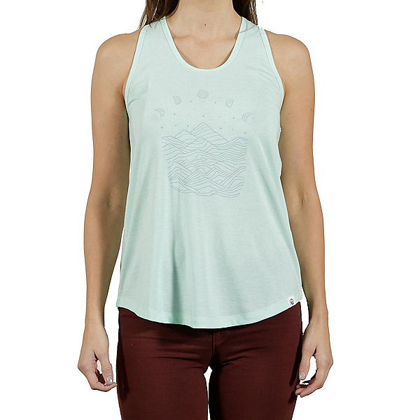 Tentree Pulau Womens Tank Top, Brook Green, 600