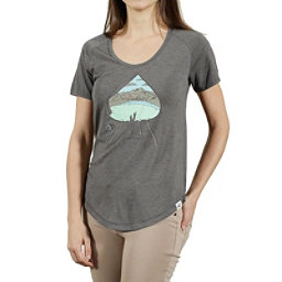 Tentree Olympic Womens T-Shirt, Heather Grey, 256