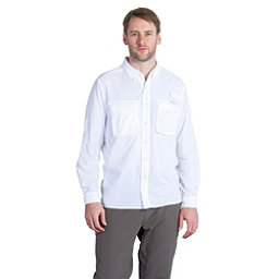 ExOfficio Air Strip Long Sleeve Mens Shirt, White, 256
