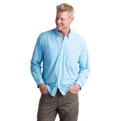 ExOfficio Atoll Long Sleeve Mens Shirt, Sky, medium