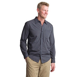 ExOfficio Salida Plaid Shirt Long Sleeve Mens Shirt, Cement, 256
