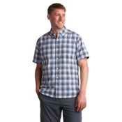 ExOfficio Sol Cool Leman Plaid Short Sleeve Mens Shirt, Cement, medium