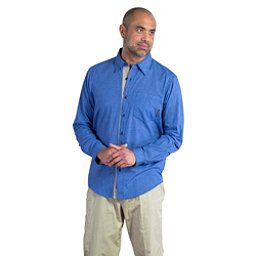 ExOfficio BugsAway Hakuna Long Sleeve Mens Shirt, Prussian, 256