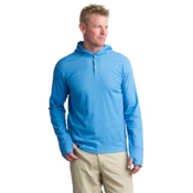 ExOfficio Lumos Knit Mens Hoodie, Deep Water, medium