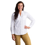 ExOfficio Fresco Long Sleeve Womens Shirt, White, medium
