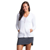 ExOfficio Sol Cool Crossback Womens Hoodie, White, medium