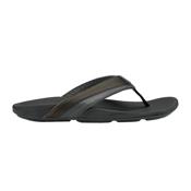 OluKai Halu'a Mens Flip Flops, Black-Black, medium
