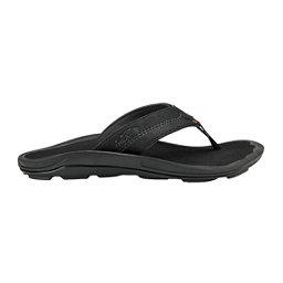 OluKai Kipi Mens Flip Flops, Black-Black, 256