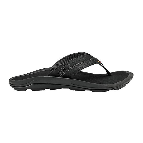 OluKai Kipi Mens Flip Flops, Black-Black, 600