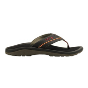 OluKai Kia'I Trainer II Mens Flip Flops, Black-Black, medium