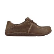 OluKai Honua Leather Mens Shoes, Ecru-Ecru, medium