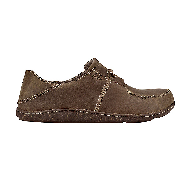 OluKai Honua Leather Mens Shoes, Ecru-Ecru, 600