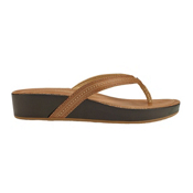 OluKai Ola Womens Flip Flops, Copper-Dark Java, medium